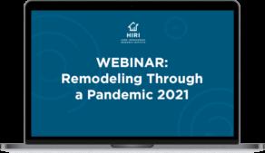 Remodeling through a pandemic laptop icon