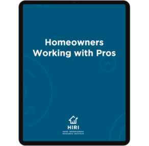 Homeowners Working with Pros